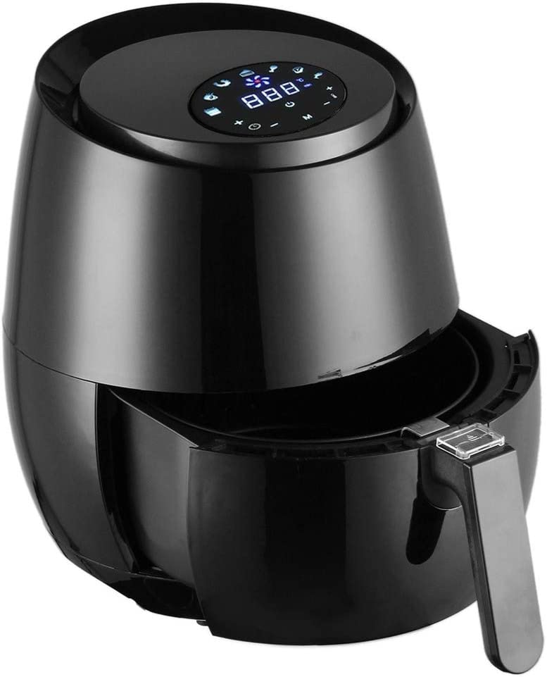 Slowly Trog Oil Free Air Fryer 1400W Electric Air Fryer 5.2L Multi-Purpose Temperature Control with LCD Touch Screen