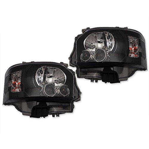 VULCANS ハイエース200系 4型 標準&ワイド ハロゲン車用 LEDヘッドライト ヘッドランプ レべライザー機能付 ブラック B01FYZHWO2