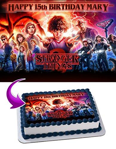 Edible Cake Image Personalized Birthday Topper Icing Sugar Paper A4 1/4 Cake Premium Quality STRTH1