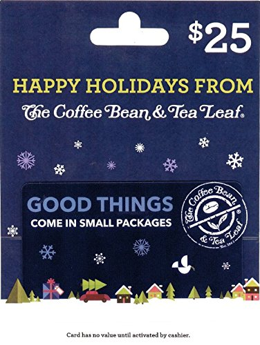 The Coffee Bean & Tea Leaf $25 Holiday Gift Card