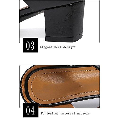 2 con Zapatillas Verano Alto B Tacón de Baotou Desgaste GYHDDP Opcionales Colores Opcional Tamaño Zapatillas y Exterior Femenino Sandalias wtfqO4YX