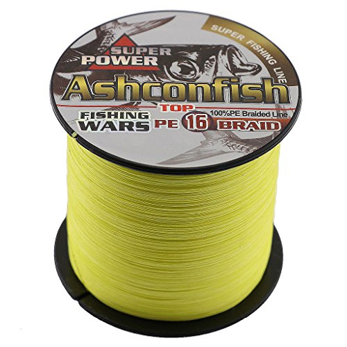 Ashconfish Braided Fishing Line-16 Strands Hollow Core Fishing Wire 100M/109Yards 200LB Abrasion Resistant Incredible Superline Zero Stretch UltraThin Diameter Woven Thread - Braid Core Hollow