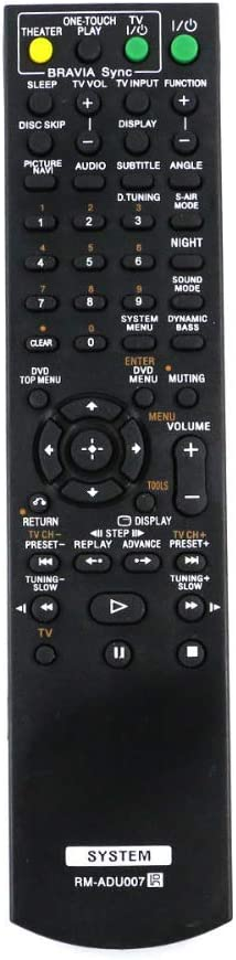 Xtrasaver RM-ADU047 Remote Control for Sony DVD Players/Home Theater Systems DAV-HDX275 DAV-HDX475 and More