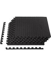 Amazon Basics maty ochronne puzzle zestaw / mata pod podłogę (6 mat puzzli, każdy 61 x 61 cm/łącznie 2,2 m²) czarna