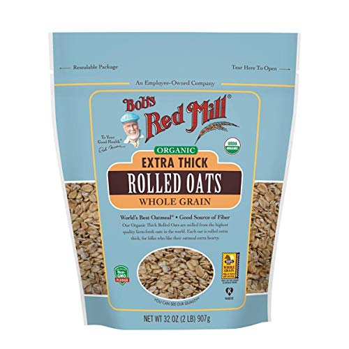 (Bob's Red Mill Resealable Organic Extra Thick Rolled Oats, 32 Oz (4 Pack))