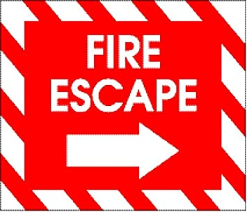 Amazon.com: Laminado 28 x 24 inches Cartel: Sign Fire Escape ...