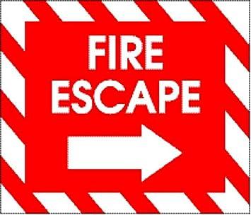 Amazon.com: Laminado 28 x 24 inches Cartel: Sign Fire Escape ...