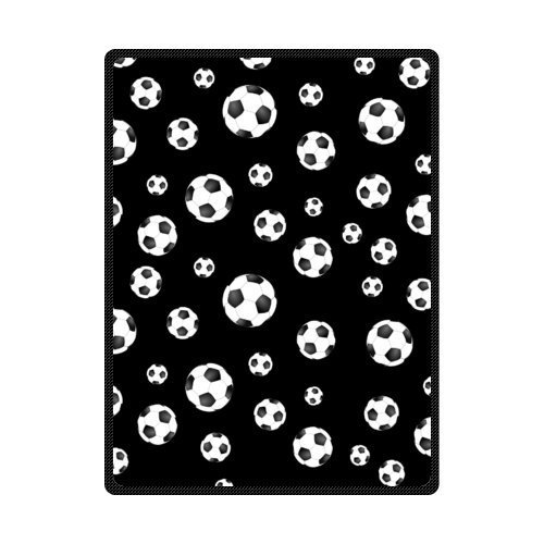Soccer Ball Custom Warming Fleece Blanket