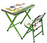 Fusine™ Fully Foldable Table & Chair Study cum Activity Table Play Set for kids (Green)
