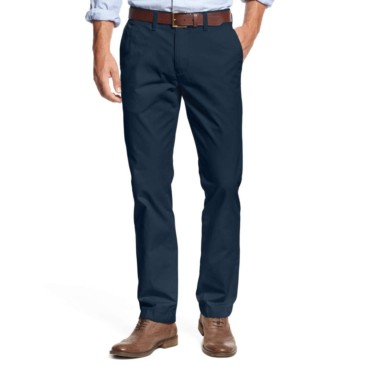 Tommy Hilfiger Men's Big and Tall Classic Fit Chino Pant, Navy Blazer, 40W x 38L