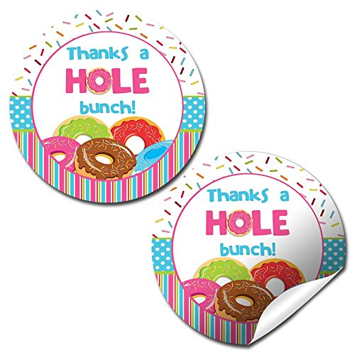 Donut Birthday Party Sticker Labels, 40 2