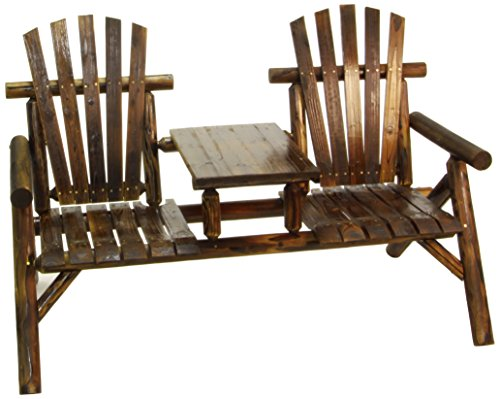 Tete A-tete Classic (American Furniture Classics Log Two Seat Bench, Burnt)