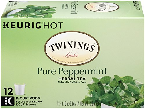 Twinings of London Pure Peppermint Tea K-Cups for Keurig, 12 Count (Pack of 6)