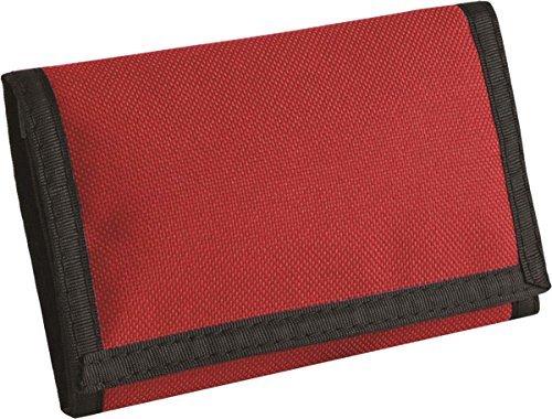 BagBase Unisex Trenn Portemonnaie EASY VERSCHLUSS Münze Tasche Portemonnaie Klassisch Rot o50oz4