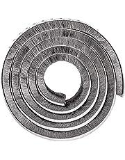 Tucireat Afdichtingsborstel, zelfklevende borsteltape, deurafdichting, tochtstopper, raamafdichting, zelfklevend, deurafdichting voor geluidsisolatie, deur, zegel, winddicht (grijs 10M)