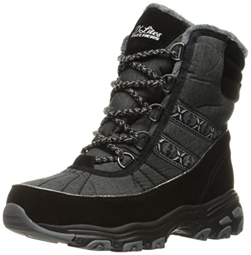 Women's D'Lites-Chateau-Lace up Winter BootBlack Heathered6 M US