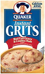 Quaker Instant Grits, Red Eye Gravy & Country Ham 12 Oz (Pack of 2)