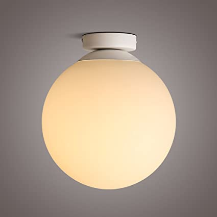 Nordic LED Ball Iron Ceiling Lamp Creative Porch Balcony ...