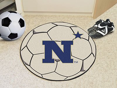 Fanmats Home Indoor Sports Team Logo US Naval Academy Soccer Ball