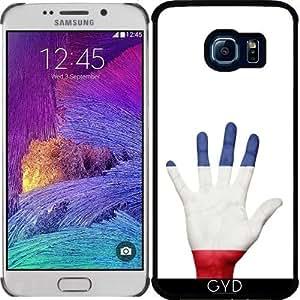 Funda para Samsung Galaxy S6 EDGE (SM-G925) - Bandera De Francés En La Mano by Grab My Art
