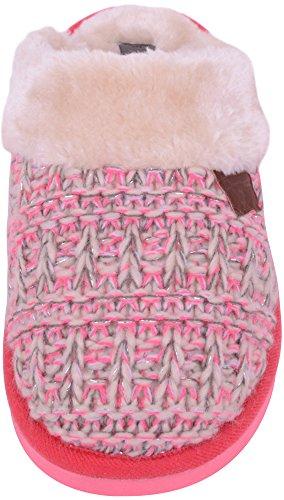 Damer / Kvinna Vackra Stickade Stil Tofflor / Mulor Med Fleecefoder Rosa