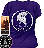 Sons of Libery Molon Labe Spartan Helmet. WOM Purple/LRG T-Shirt