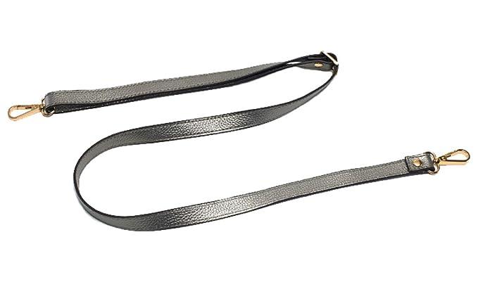 , Brown W//Silvertone Buckles 65cm//25.6 Not adjustable 18mm Replacement Genuine Leather Purse Straps Adjustable Crossbody Shoulder Handbags Silvertone Buckles