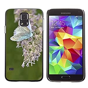 Etui Housse Coque de Protection Cover Rigide pour // M00114900 Mariposa Insectos Insectos Macro // Samsung Galaxy S5 S V SV i9600 (Not Fits S5 ACTIVE)