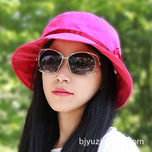 GAOQIANGFENG Summer Bill Flap Cap UPF 127+ Cotton Sun Hat with Neck Cover Cord for Women