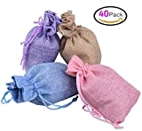 Durable:The material of the bag is high quality and environmental protection burlap, can be used for a long time. Hessian has good moisture absorption and air permeability function, light weight, antimildew and insect resistant advantage. The...