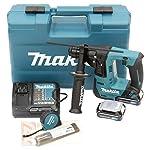 Makita-1-TASSELLATORE-108V-2x2Ah-14mm-SDS-Plus-compatibile-2FUNZ-1J-Accessori-108-V