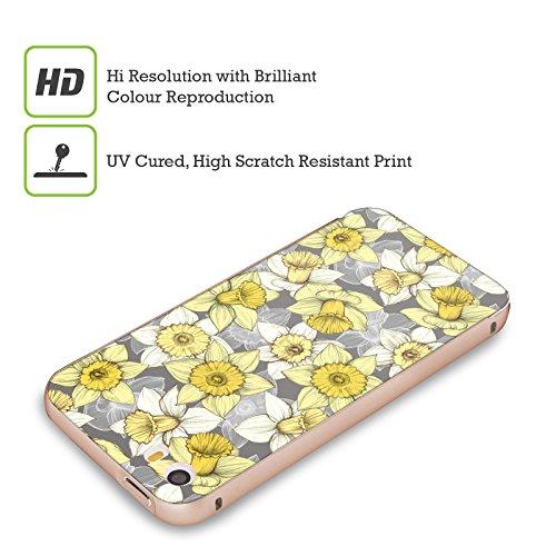 Officiel Micklyn Le Feuvre Confusion de Jonquille Florals Or Étui Coque Aluminium Bumper Slider pour Apple iPhone 5 / 5s / SE