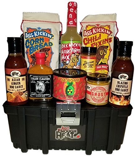 Spicy Toolbox Gourmet Gift Set - Hot Sauce Food Basket for M