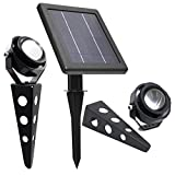 Cheap Solar Spotlight // MITHOS 50X Twin Warm White LED Spotlight // 60-100 Lumen // Cast Aluminium