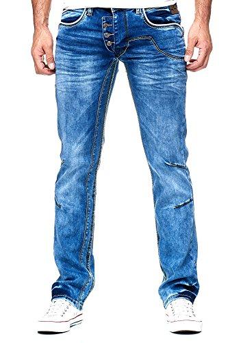 6353c35add67a9 Rusty Neal Herren Jeanshose Used Look R-NEAL Jeans Hose Weiß Dicke Naht  8442-30  Amazon.de  Bekleidung
