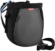 MoKo Rock Climbing Chalk Bag, Bouldering Chalk Bag Bucket with Adjustable Belt & Carabiner Drawstring Clim