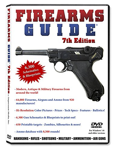 Firearms Guide 7th Edition (DVD-Rom for Windows) - Most Extensive Gun Reference Guide & Schematics Library