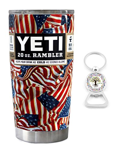 Insulated Stainless Cup Keychain Patriotic