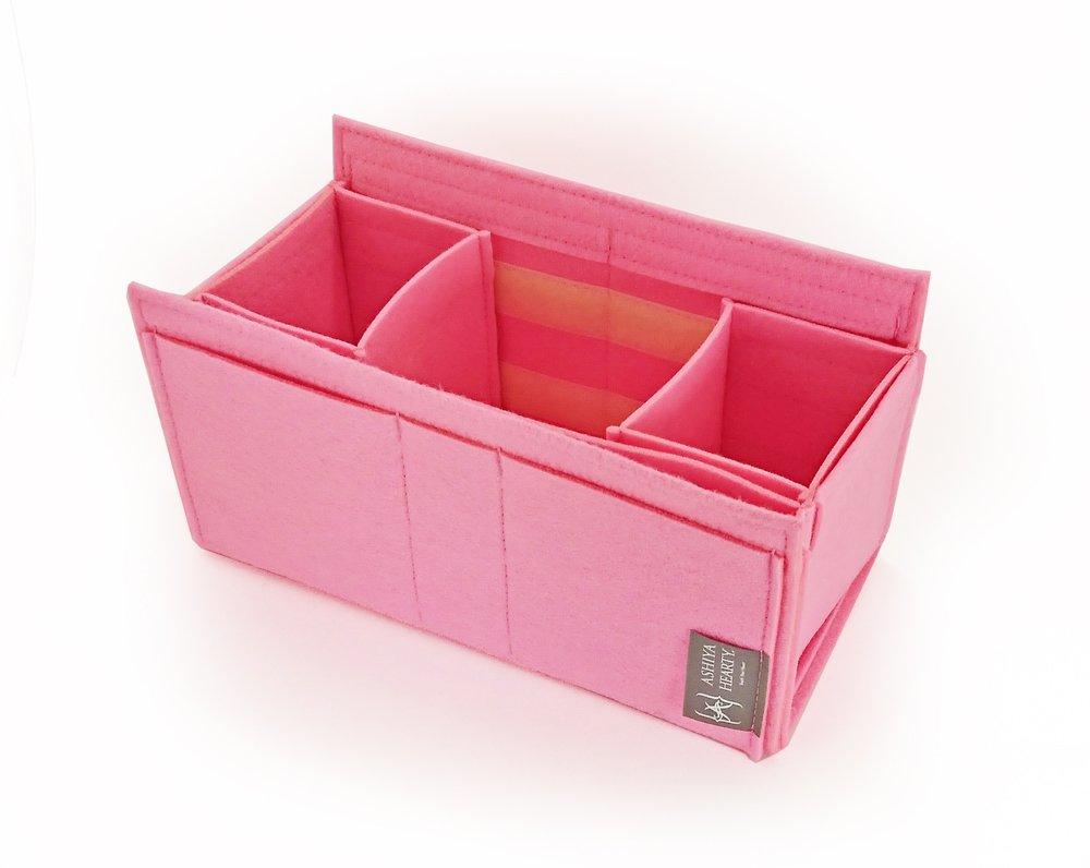 エルメスバーキン30にぴったり収まる【Ashiya Hearty(芦屋ハーティ)【フェルトバッグオーガナイザー forバーキン30】(fib-hb30)小物入れとして/バッグインバッグとしてもGOOD B015Z07XA4 ピンク