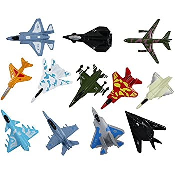 airplane toys set of 12 die cast metal military themed assorted fighter jets for kids