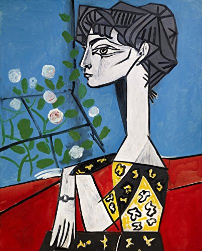 Pablo Picasso - Jacqueline with Flowers, Size 24x30 inch, Gallery Wrapped Canvas Art Print Wall décor ()
