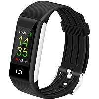 Nasharia Bluetooth Montre de Sport Intelligente Écran Couleur Étanche IP67- Moniteur de Suivi Sportif Surveille en Permanence la Fréquence Cardiaque, le Sommeil, les Sports, les Notifications, etc. (Android et iOS)