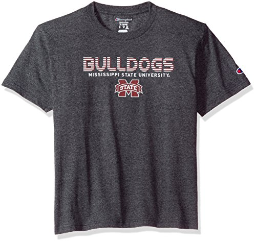 (NCAA Mississippi State Bulldogs Youth Boys Jersey T-Shirt 2, Medium, Charcoal)