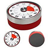 60 minute wind up timer - Mechanical Kitchen Timer, Magnetic Oven Timers Loud Sound Ring, 60 Minutes Capacity Refrigerator Decor, Visual Stainless Steel Wind Up Time Tools for Kids Teachers Housework Sport Cooking GYM BBQ