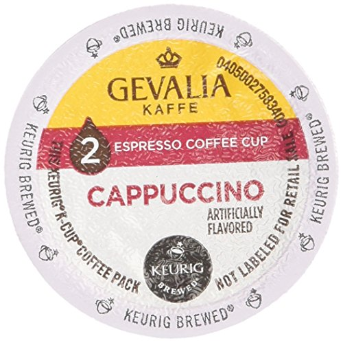 Gevalia 2-step 9 -Espresso Coffee Cups and Froth Packets, Cappuccino (Pack of 2) -  1001256724