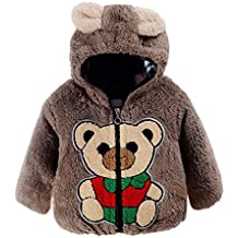 WuyiMC Cartoon Clothes, Kids Baby Coat Infant Bear Autumn Hooded Cloak Jacket Thick Warm Outwear