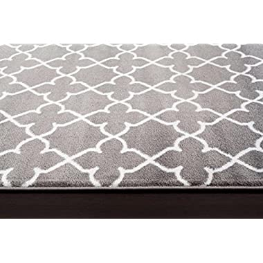 9070 Gray Moroccan Trellis 7'10x10'2 Area Rug Carpet Large New
