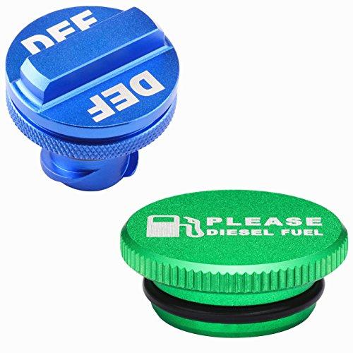 shoppingsoon-billet-aluminum-green-fuel-cap-magnetic-and-blue-def-cap-for-dodge-ram-cummins-2013-201