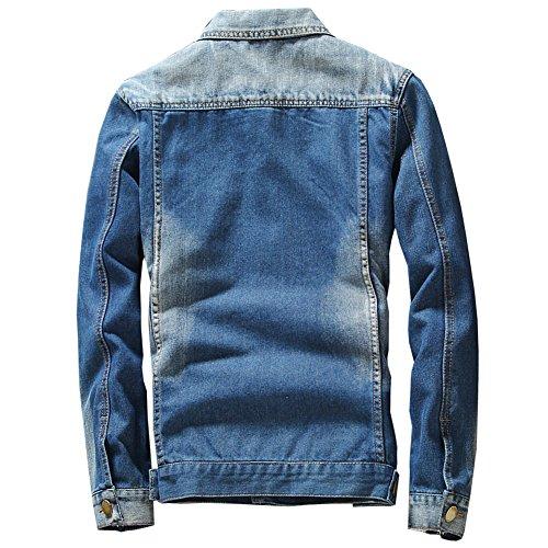 Giacca Classic Trucker Western Jeans Di Uomo Blu pFOqUxndw