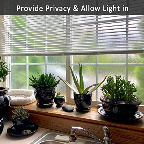 Privacy Window Film,Decorative Glass Door Film,Static Cling Window Tint,No Glue Removable Anti UV for Home and Office Decoration,35 inches by 118 inches